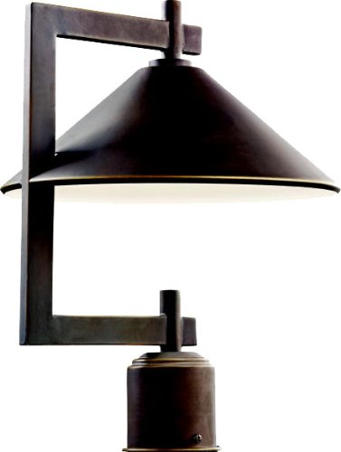 Kichler 49063OZ Ripley Outdoor Post Mount 1-Light, Olde Bronze