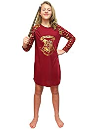 Big Girls Harry Potter Gold Foil Hogwarts Raglan Pajama Night Gown