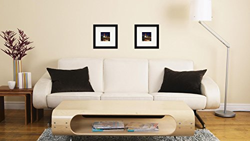 """Best 11x11/"""" Picture Frame Black with 1 Mat for 8x8 Picture Wood Instagram Photo"""