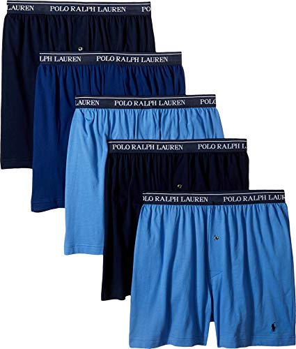 Polo Ralph Lauren Men's 5-Pack Boxer Blue Medium