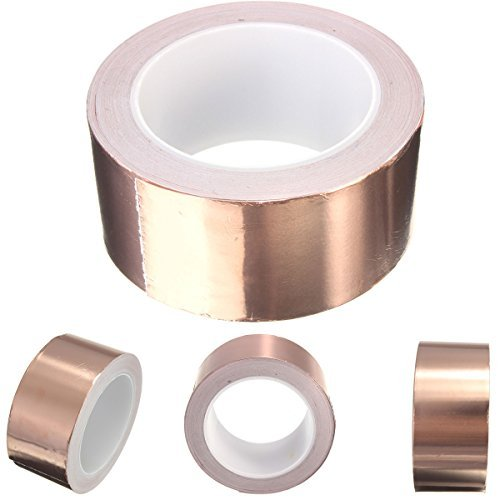 - DRILLPRO 2 inch x 22 yds Copper Foil Tape - (50mm x 20m) - EMI Shielding Conductive Adhesive for Stained Glass,Paper Circuits,Electrical Repairs