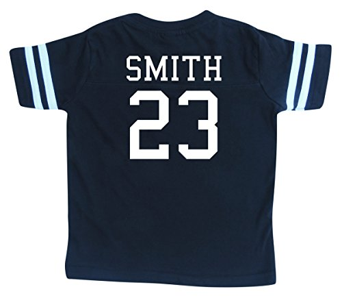 Custom Football Sport Jersey Toddler & Child Personalized with Name and Number (6/8 (Small), ()
