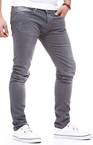 Leif Fit Ln1051 Denim Loisir Nelson De Pantalon Stretch Hommes Pour Des Jeans Slim Gris SBqwpSrH