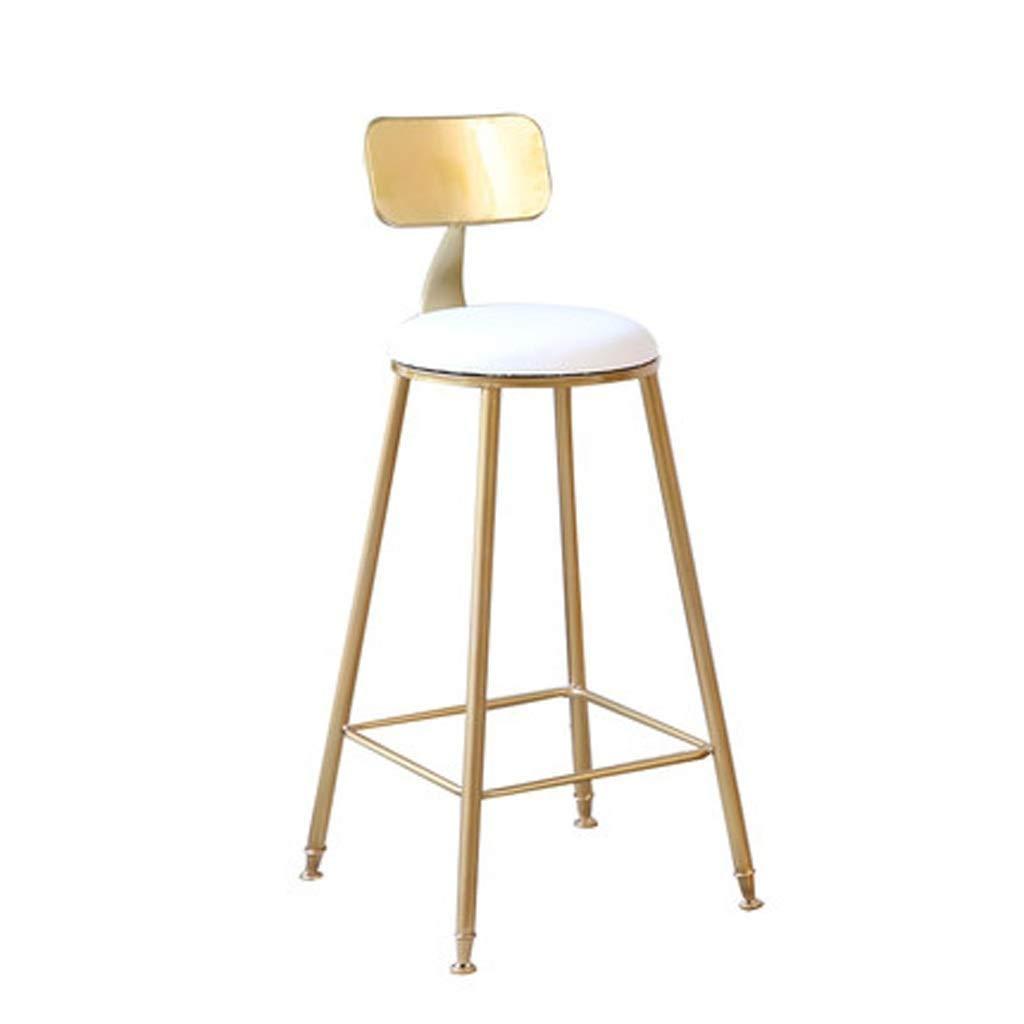 シンプルなレジャーバースツールバーテーブル錬鉄製のバーチェアゴールドスツール現代の北欧ネット赤い椅子バーチェア FENPING (Color : Gold) B07TRPQ9L4 Gold