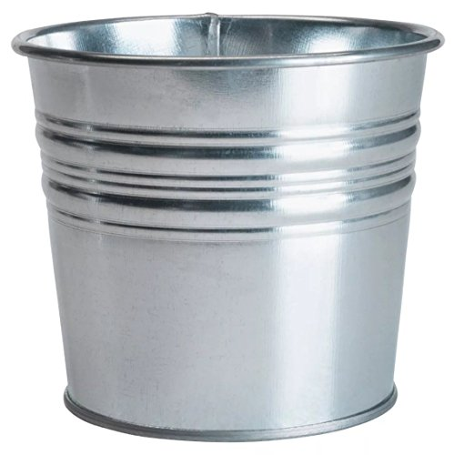 Ikea Galvanized Plant Pot, Pack of 3, Silver