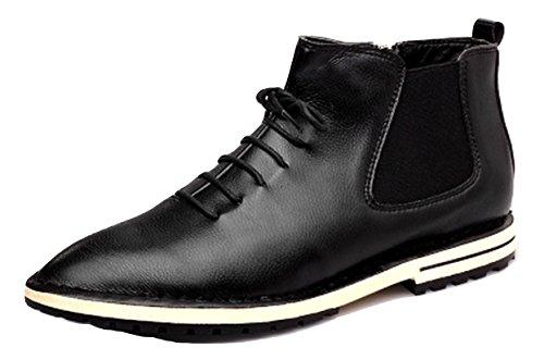 シーサイド遠え負R.Y.A.R メンズ ビジネスブーツ ビジネスシューズ 紳士靴 カジュアル 革靴 通勤 靴 防水 防滑 ローファー ブーツ 黒 ブラック
