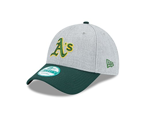 (New Era MLB Oakland Athletics The League Heather 9FORTY Adjustable Cap, One Size, Gray)