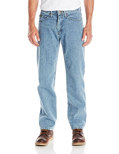Lee Men's Relaxed Fit Straight Leg Jean, Worn Light, 32W x 34L
