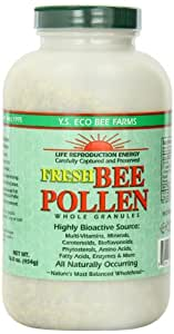 Amazon.com: Fresh Bee Pollen Whole Granules - 16 oz