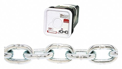 150 ft. Grade 30 Straight Chain, 3/16'' Trade Size, 800 lb. Working Load Limit, For Lifting: No by Campbell