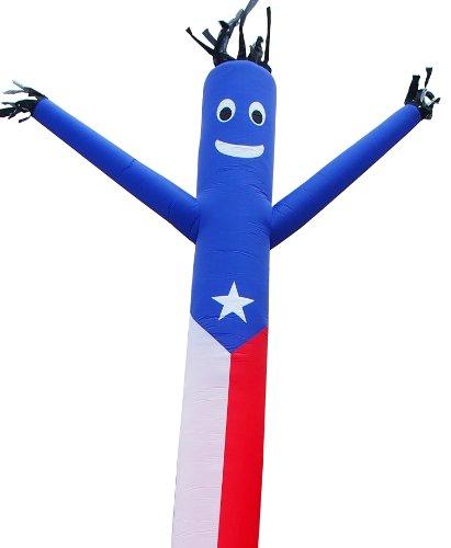 Torero Inflatables bailarín del aire cielo Guy alto inflable con bandera de Puerto Rico accesorio, 609,6 cm