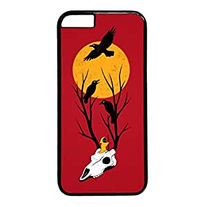 iCustomonline Hallowmas Picture Hard PC Black Case Fits Cover Back for iPhone 6 (4.7 inch)