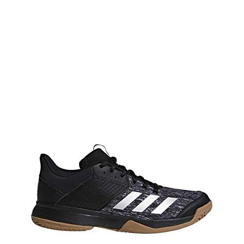 adidas Women's Ligra 6 Volleyball Shoe, Black/Silver Metallic/White, 5 M US