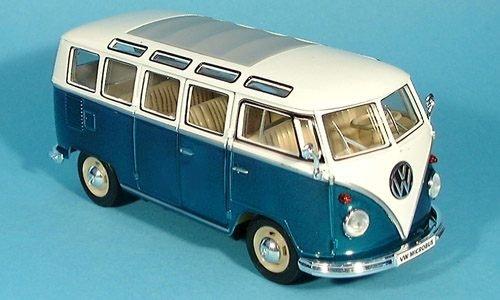 VW T1 Bus, grün, Modellauto, Fertigmodell, Welly 1:24
