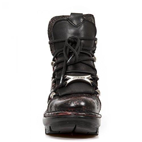 Nuovi Stivali Da Roccia M.neotyre01-c2 Gotico Hardrock Punk Damen Stiefelette Schwarz