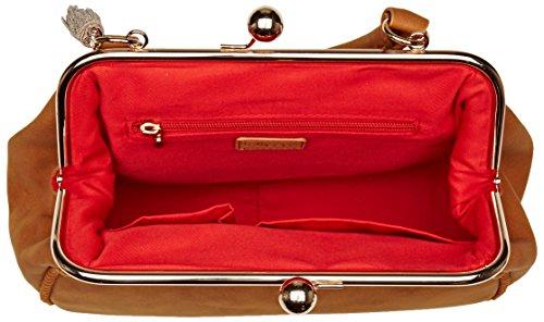 Lollipops Damen Beam Frame Schultertasche, Beige (Caramel), 11x21x29 centimeters
