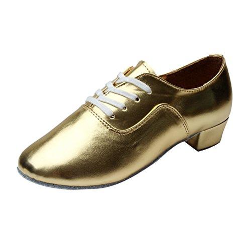 Enfants Professionnelle Mode Homme Jazz Chaussures De Latine Danse Salon Adultes Or Pour Lihaer CRfx6wvqU