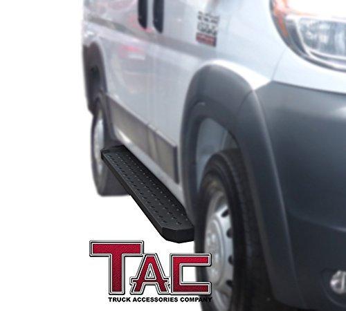 "Full Size TAC 6.5/"" Rattler Steel Running Boards Fit 2003-2019 Chevy Express 1500//2500//3500 Van Full Size // 2003-2019 GMC Savanna 1500//2500//3500 Van Utility Black Side Step Nerf Bars Side Bars"