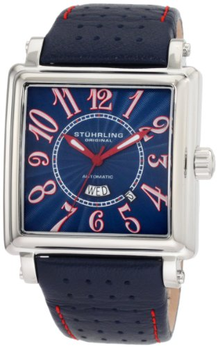 Stuhrling Original Men's 149C.3315C6 Leisure Manchester Ozzie Automatic Day and Date Black Watch