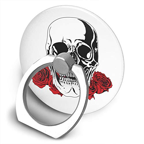 Yuotry 360 Degree Rotating Ring Stand Grip Mounts Flower Skull Universal Phone Ring Bracket Holder Smartphone Ring Stent]()