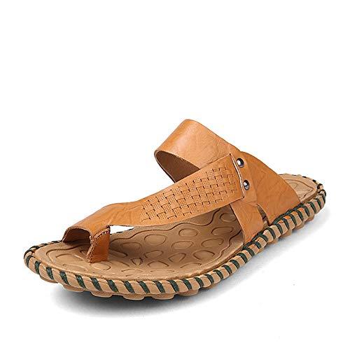 Sandalias De Cuero Verano EU De Marrón Zapatos De Libre 40 para Marrón Aire 2 De Playa tamaño Antideslizantes Hombre Color Al De Azul Color Zapatillas Wangcui 3 Playa 7nvttF