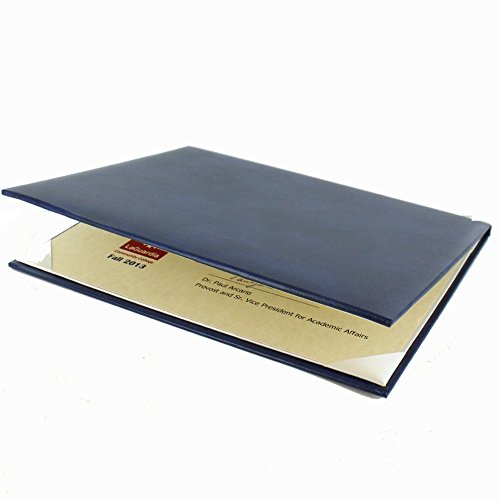 Padded Certificate Holder - Padded Blue Certificate Holder with Acetate Cover - Pack of 3