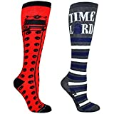 Doctor Who Socks Women & Girls - Dr Who Merchandise Knee High Socks - Fits Shoe Size: 4-10 (Ladies)