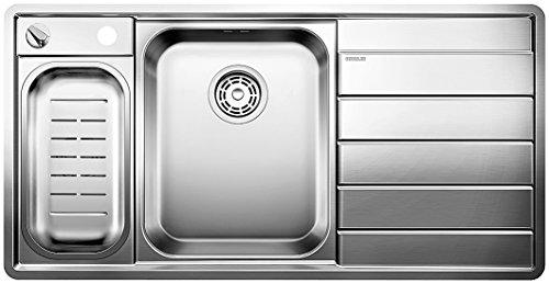 Blanco AXIS II 6 S-IF, Küchenspüle, Edelstahl Seidenglanz, Becken links, 1 Stück, 516530