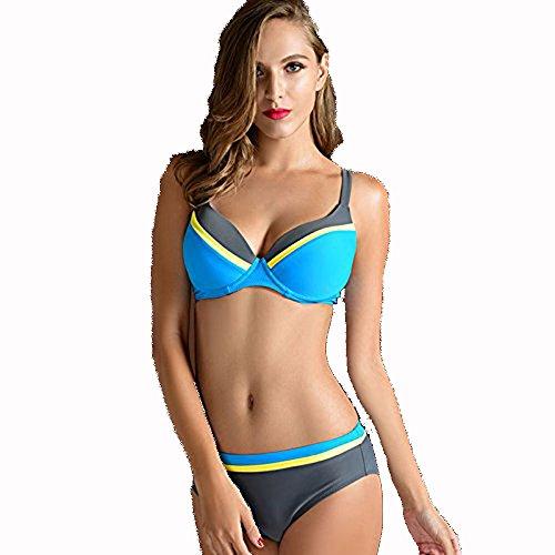 Europa y la mujer Bikini Bañador azul