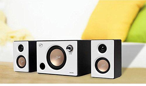 Swan Speakers - M10 - Powered 2.1 Computer Speakers - Surround Sound - Near-Field Speakers - Bookshelf Speakers - Pearl White by Swan Speakers (Image #5)