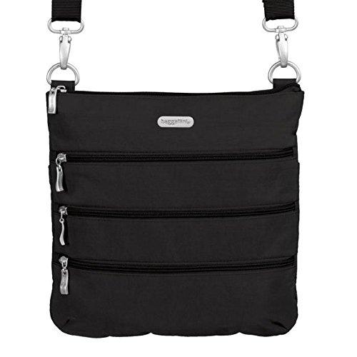 Baggallini Women's Big Zipper Bagg Black/khaki