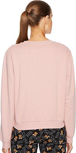 MOSCHINO Women's Cotton Fleece Long Sleeve Sweatshirt Pink Small by MOSCHINO (Image #2)