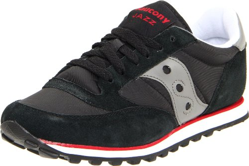 Saucony Jazz Low Pro - Saucony Originals Men's Jazz Low Pro Classic Retro Sneaker, Black/Silver, 13 M US