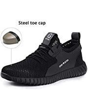 Safety Shoes, Steel Toe Cap Trainers Mens Womens Safety Shoes Work Lightweight Midsole Protection,7