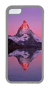 iPhone 5C Case, iPhone 5C Cases - Landscapes Matterhorn Custom Design iPhone 5C Case Cover - Polycarbonate¨C Transparent