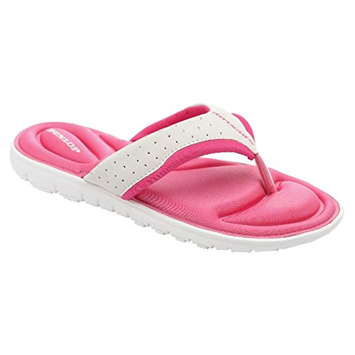 Memory Womens Ladies Sandals Post Fuchsia Dunlop White Flops Beach Foam Slip Flip Toe On New xZwqwXBC