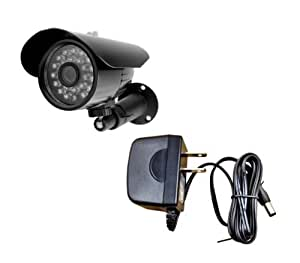 Aposonic A-CDBI09B-PA 480TVL CCD Indoor/Outdoor CCTV Surveillance IR Camera with 500mA Power Adapter