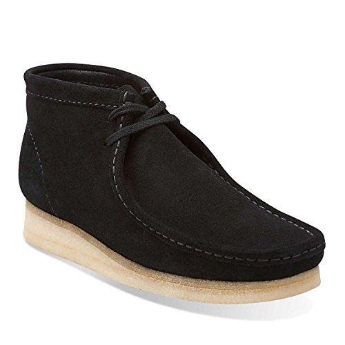 clarks-original-wallabee-black-mens-boots-size-11-uk