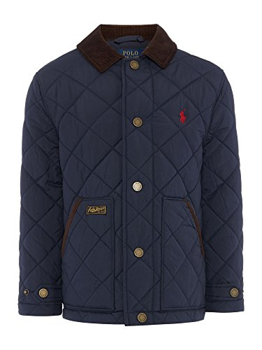 Polo Ralph Lauren Boys Quilted Jacket Coat Preppy Navy 8 (S) by Polo Ralph Lauren