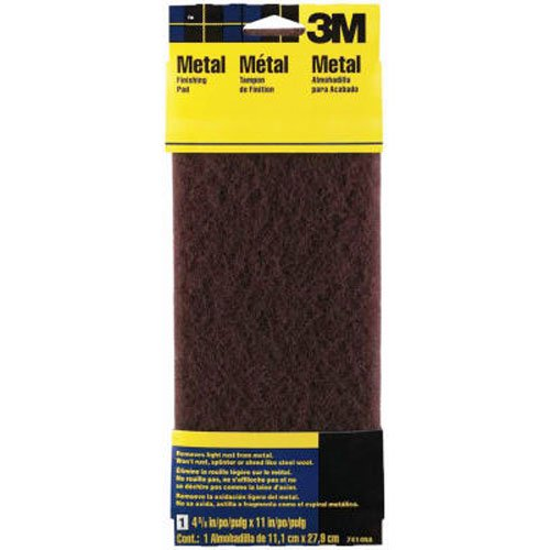 Gray 3M 7415NA Hand Sanding Wood Finishing Pad Fine 4.375 in by 11 in