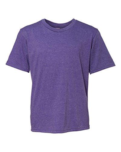 Anvil Youth Lightweight T-Shirt, Medium, HEATHER PURPLE