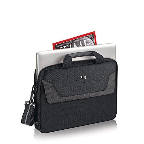Solo Flatiron 14.1 Inch Laptop Slim Brief, Black/Grey by SOLO (Image #2)