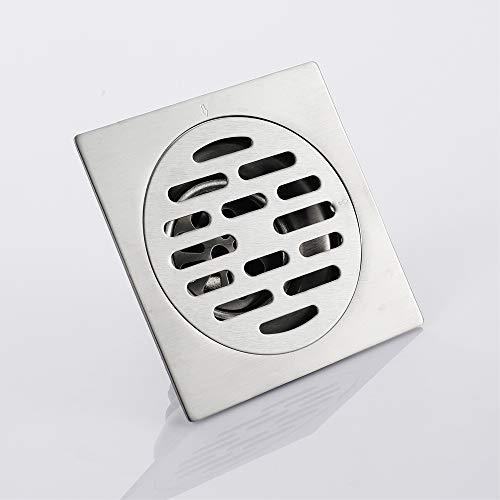 Shower Floor Drain Square Strainer Stainless Steel Modern 4-Inch Floor Drain Insect Proof, Anti-Backwater And Deodorant Floor Drain Anti-Clogging by YJZ (Image #3)