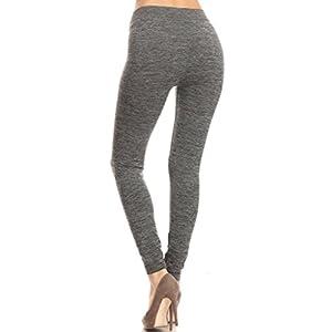 2ND DATE Women's Activewear Space Dye Yoga Leggings-Lgrey-OS