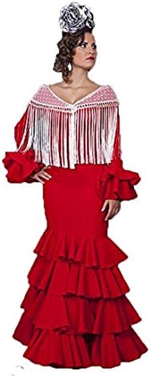 Traje DE Flamenca (36, Rojo): Amazon.es: Ropa y accesorios