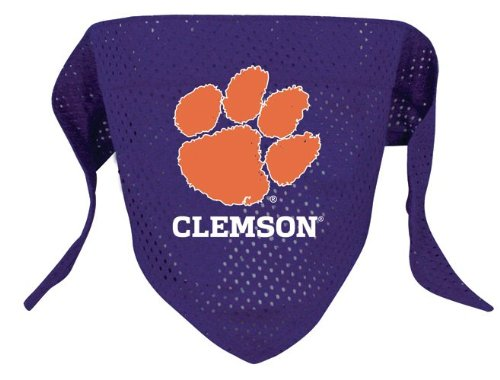 Football Tigers Personalized (NCAA Clemson Tigers Pet Bandana, Team Color, Large)