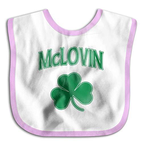 (Mclovin Irish Shamrock Infant Toddler Bibs Adjustable Snaps Cute Prints Baby Bib Funny Baby Shower Gift)
