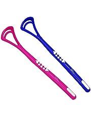 Tongue Scraper Cleaner x 2 ~ Dark Blue & Pink