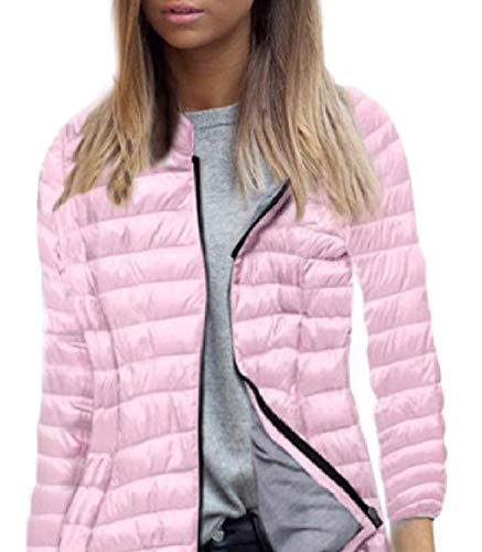 Slim Zip Light Long Weight Ultra Sleeve Skinny Hooded Women Jackets XINHEO Down Pink ftqwn0xEBg
