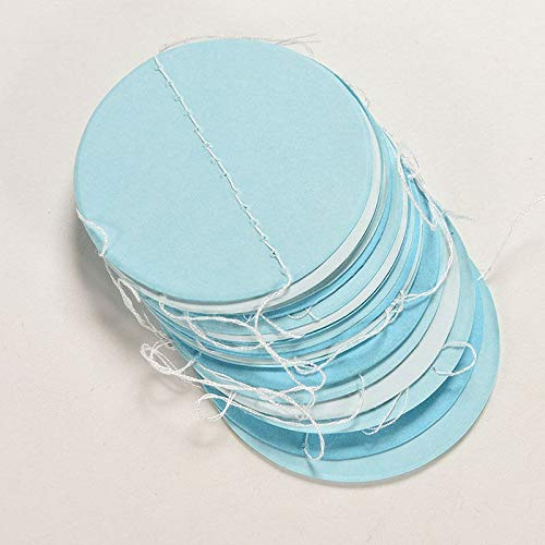 Party DIY Decorations - 2m Long Paper Garland Ornaments Curtain Wall Pop Disc Holiday Party Wedding Room Classroom Decor - Sticker Clock Girls Room Decorative Decor Balcony Girl Frases ()